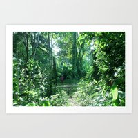 Her Forest Home Art Print
