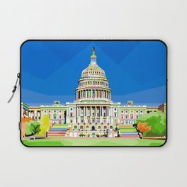 Capitol Building in Anomali WPAP Laptop Sleeve