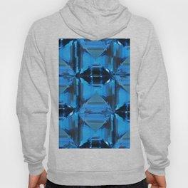 BLUE CRYSTAL GEMS PATTERN Hoody