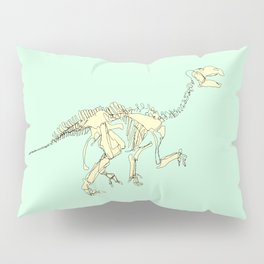 Pastel Iguanodon Pillow Sham