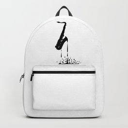 Melting Saxophone Silhouette Backpack
