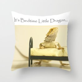 It's Bedtime Little Dragon... Throw Pillow