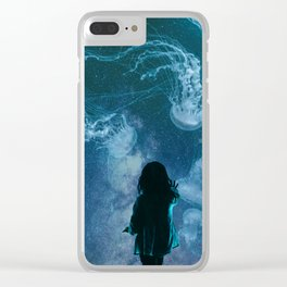 Cosmic Aquarium Clear iPhone Case
