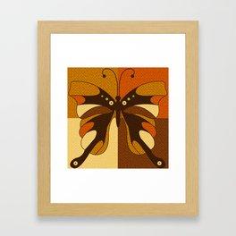 RETRO BUTTERFLY Framed Art Print