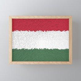 Extruded flag of Hungary Framed Mini Art Print
