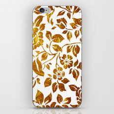 Gold flowers iPhone & iPod Skin