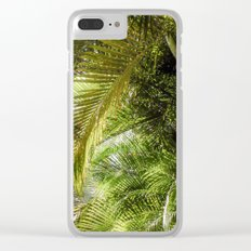 Giant Palms Clear iPhone Case
