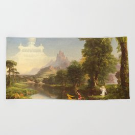 The Voyage of Life Youth Painting by Thomas Cole Beach Towel