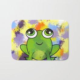 Cute frog and fresh paint Bath Mat