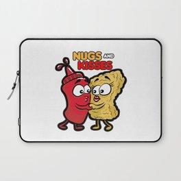 NUGS AND KISSES Romantic Fastfood Love Present Laptop Sleeve