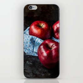 Three Red Apples iPhone Skin