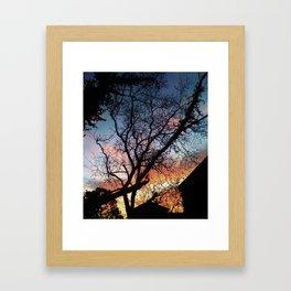 Houston Sunset Framed Art Print