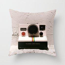 OneStep Land Camera, 1977 Throw Pillow