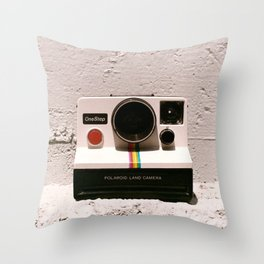 OneStep Land Camera, 1977 Throw Pillow