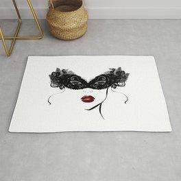 Masquerade mask,fashion decor Rug