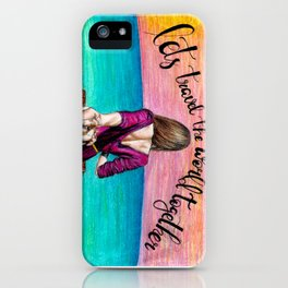 Lets Travel the World Together iPhone Case