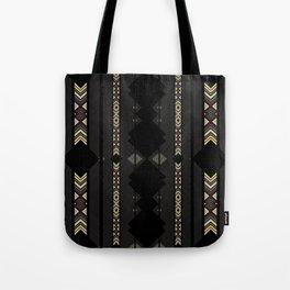 Southwestern Black Diamond Stripe Patterns Tote Bag