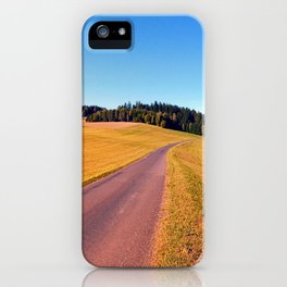 Country road with scenery   landscape photography iPhone Case