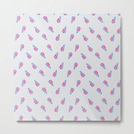 Cristal Aquarelle Pattern  Metal Print