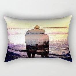 Love in the Sunset Rectangular Pillow