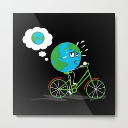 Round Earth Lose Weight Metal Print