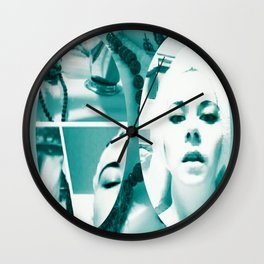 mirror mirror turquoise mirror  Wall Clock