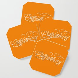 Coffrothing - Coffee lover hand lettering script typographic froth art Coaster