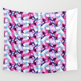Rainbow Down Abstract Watercolor Painting Wall Tapestry