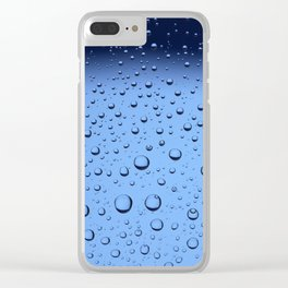 Blue Water Bubbles Clear iPhone Case