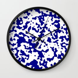 Spots - White and Dark Blue Wall Clock