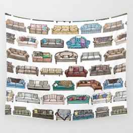 TV Couches Wall Tapestry