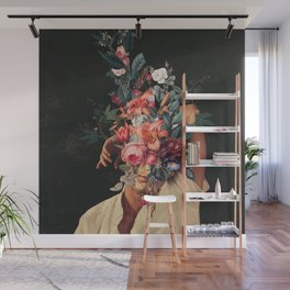 Roses Bloomed every time I Thought of You Wall Mural