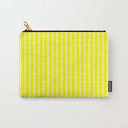 Vertical Lines (White/Yellow) Carry-All Pouch