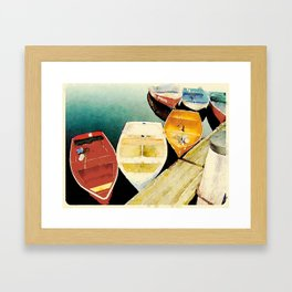 Rockport, MA Dories Framed Art Print