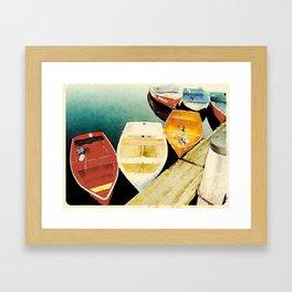 Rockport, Massachusetts Dories Framed Art Print