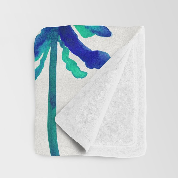 Pine Trees – Navy & Turquoise Palette Throw Blanket