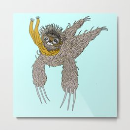Impulsive Sloth Metal Print