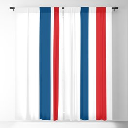 McQueen – Red and Blue Stripes Blackout Curtain
