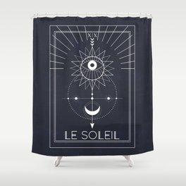 Le Soleil or The Sun Tarot Shower Curtain