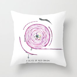 A Red Onion Throw Pillow