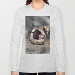 CAT - YAWNING - PHOTOGRAPHY - ANIMALS - CATS Long Sleeve T-shirt