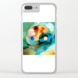 Earth Balance - Yin And Yang Art Clear iPhone Case