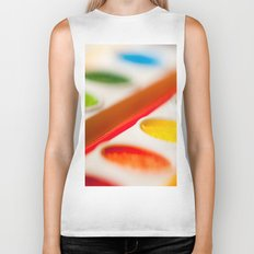 Watercolors Biker Tank
