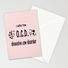 OCD Obsessive Cow Disorder Stationery Cards