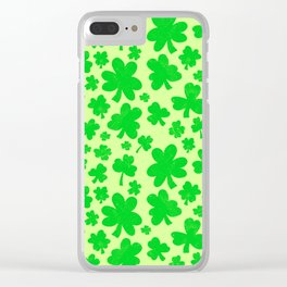 Shamrock showers Clear iPhone Case
