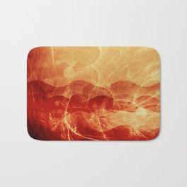 Energy Waves - Fire Version Bath Mat