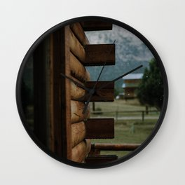 Rainy Cabin Days Wall Clock