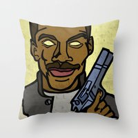 law Throw Pillows featuring Murphy's Law by Rat McDirtmouth