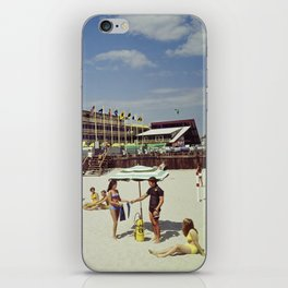 1960's beach picture from the Admiral Motel in Wildwood, New Jersey iPhone Skin