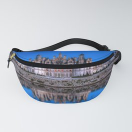 The castle of Chambord at night Fanny Pack